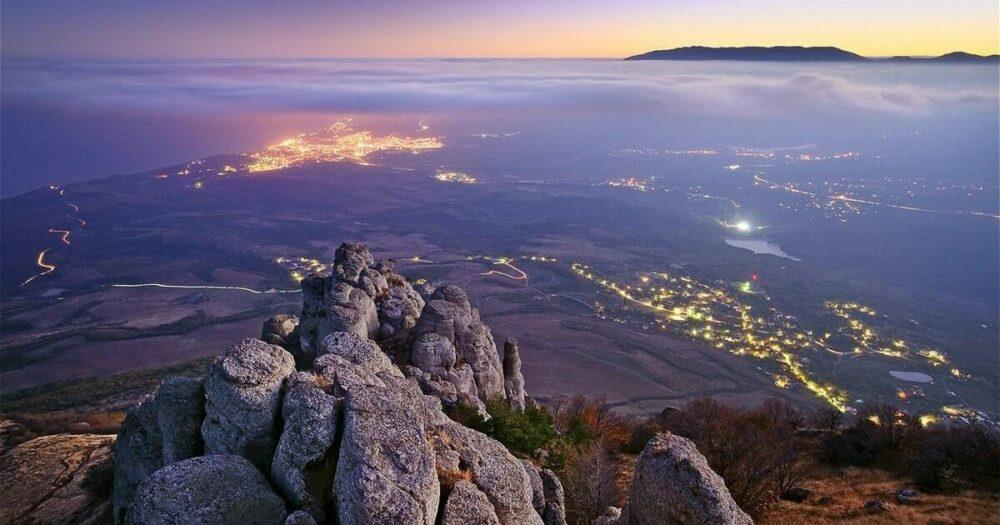 гора демерджи фото ночной Алушты
